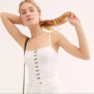 FREE PEOPLE INTIMATELY FOR THE BOYS CORSET CAMI S